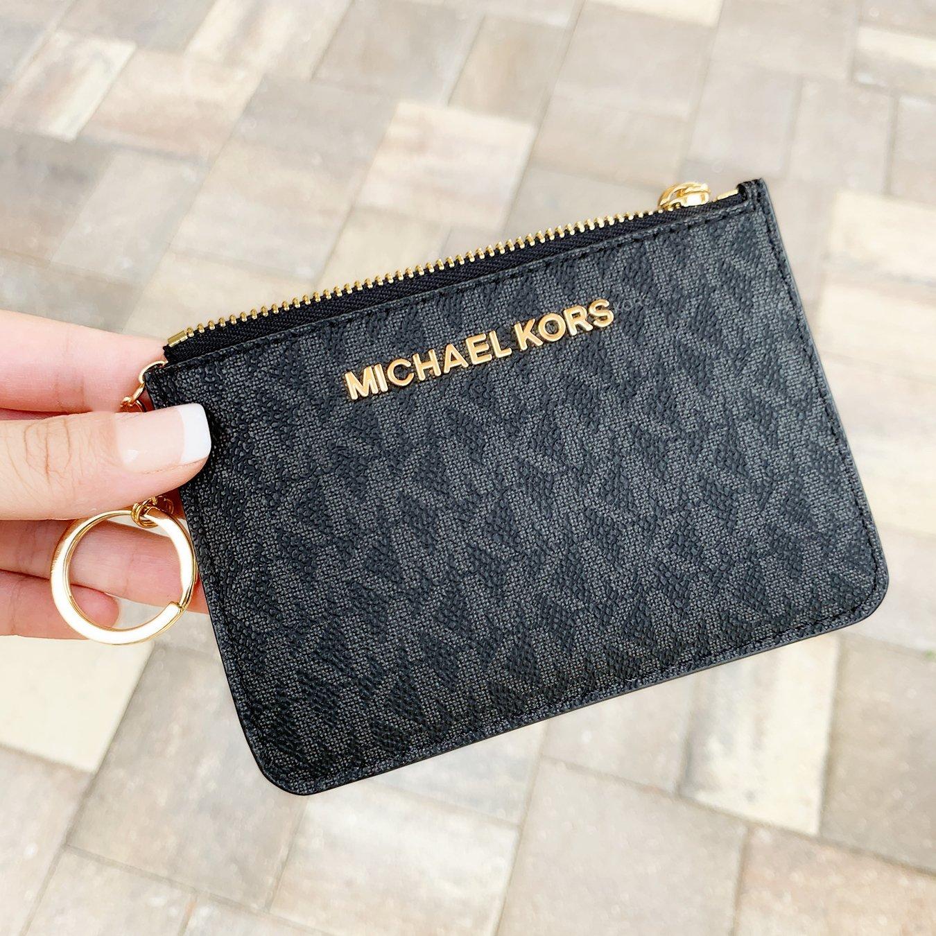 michael kors coin purse white
